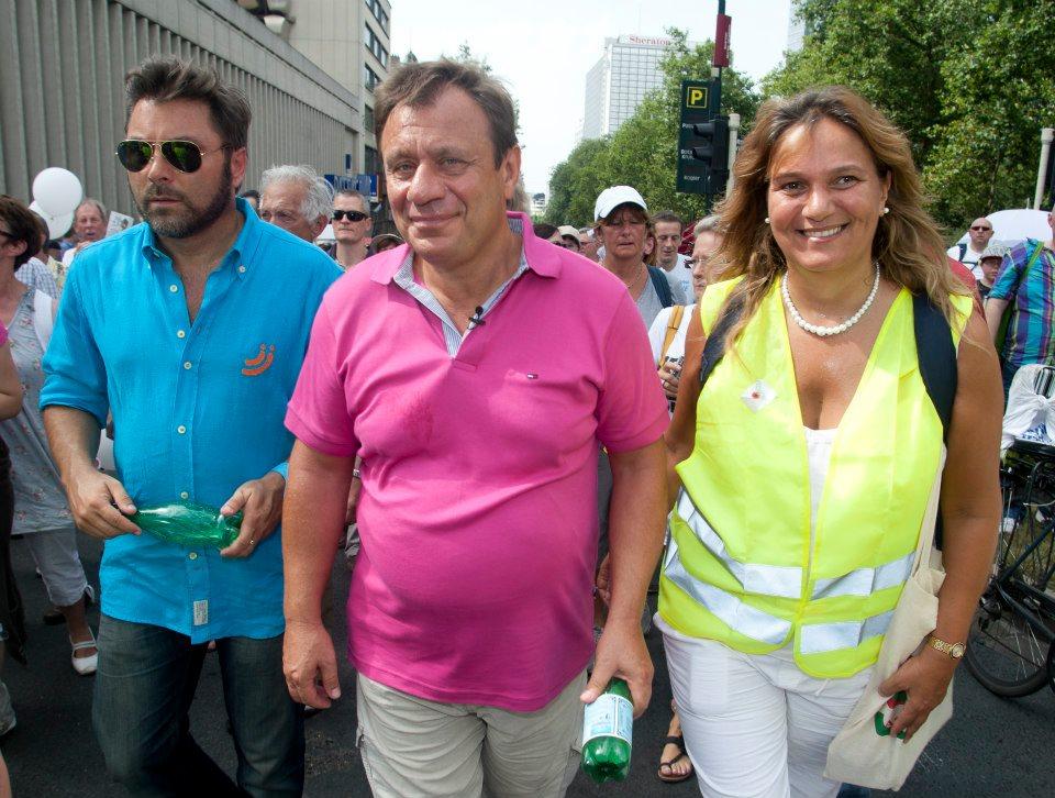 Avec JD Lejeune et S Pauwels à Bruxelles
