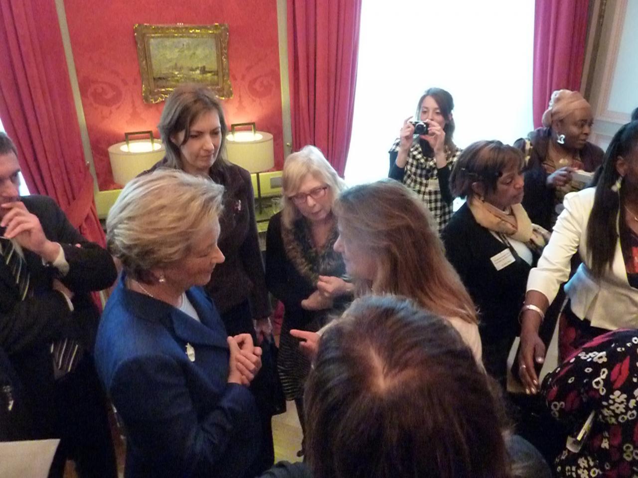 Avec la Reine Paola, à l'occasion de l'hommage aux femmes de paix.