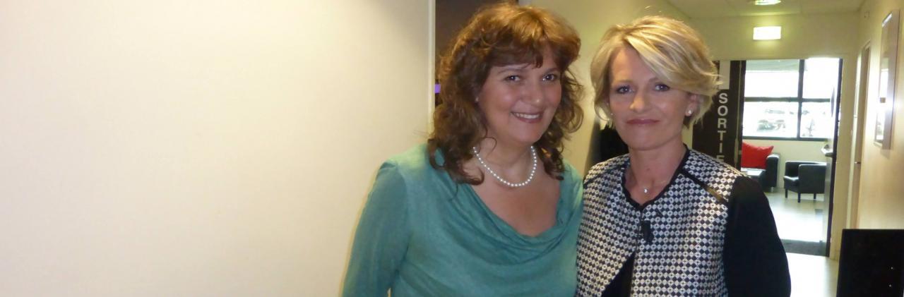 Avec Sophie Davant, lors de l'émission Toute une Histoire